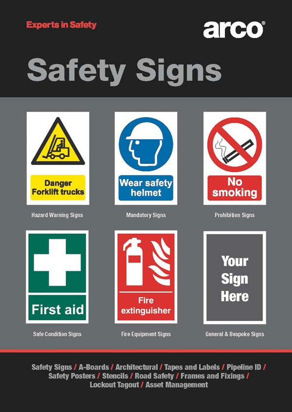 Arco launches expert guide to safety signs in the ...