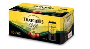 New multi-pack formats for Thatchers Gold cans