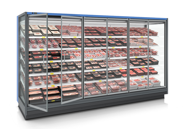 Monax Eco remote refrigerated multideck with glass doors