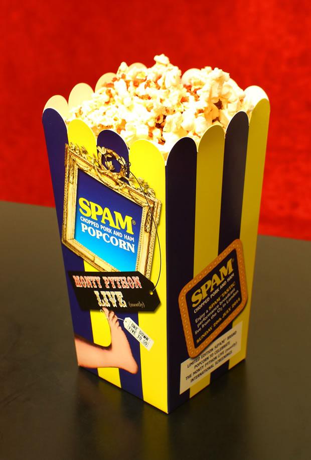 SPAM Popcorn Carton