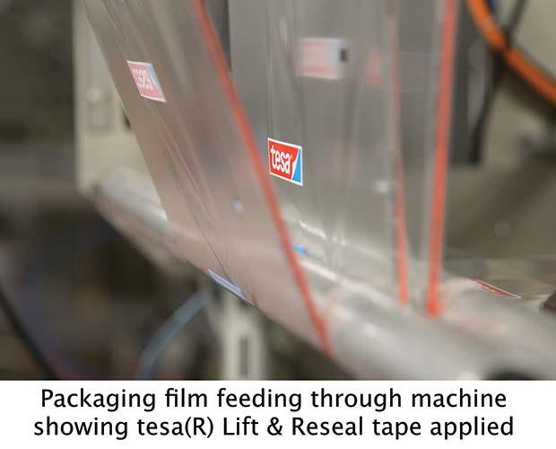 Packaging-film-feeding-through-machine
