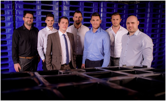 The friendly faces of the knowledgeable Goplasticpallets.com business development team, ready to guide you to the correct solution for your packaging and pallet requirements. From left: Ben Messingham, Robbie Hodgson, Tom Lee, Marc Howell, Dan Starnes, James Moore and Gavin Lee.