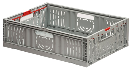 The GoFold Twistlock boxes are ideal for rapid order picking, with handles on all four sides.